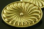 Durand gold cufflinks. (J9261)