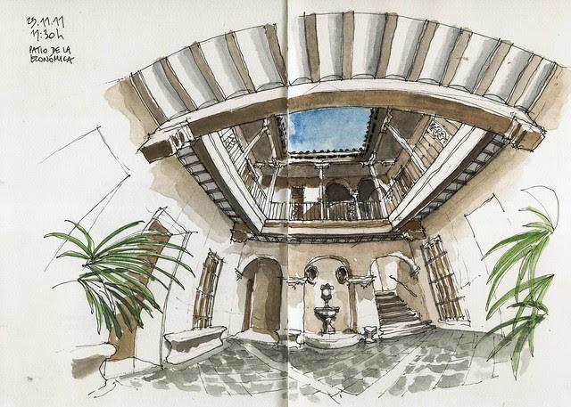 Málaga, Casa del Consulado, court