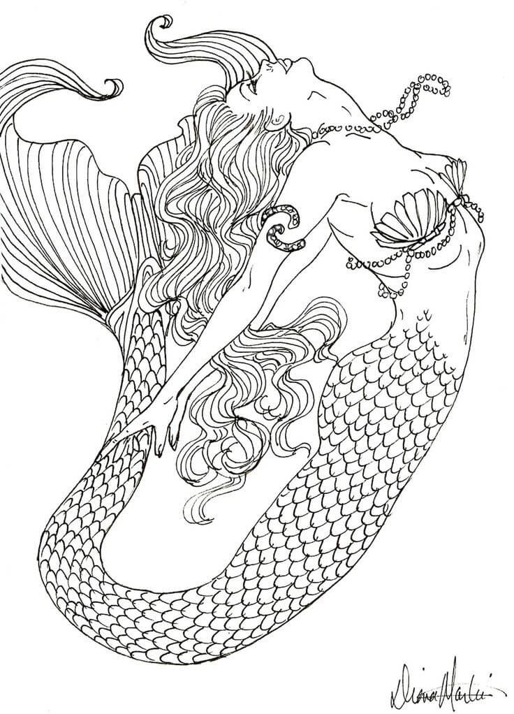 Detailed Coloring Pages For Adults Free Fairy Tale ...