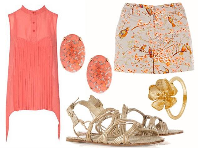 Oasis shorts, £25, johnlewis.com. Blouse £18, matalan.co.uk. Sandals, £52.50, theoutnet.com. Earrings, £15, asos.com. Ring, £90, goldsmiths