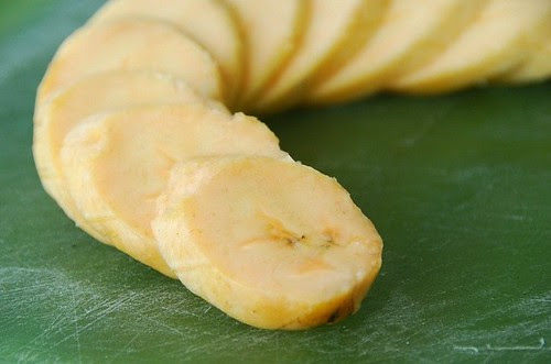 plantain slices