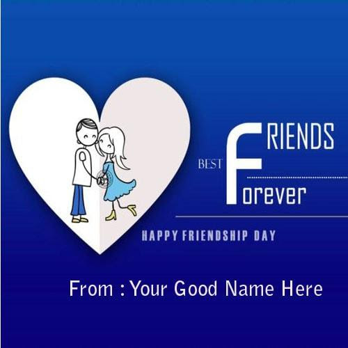 Friendship Greeting Card Pictures With Name And Friend Name