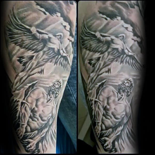 60 Icarus Tattoo Designs For Men Manly Greek Mythology Ideas