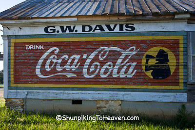 Coca Cola Mural on G.W. Davis General Store, Arcola, North Carolina