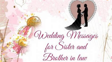 Wedding Messages for Sister and Brother in Law