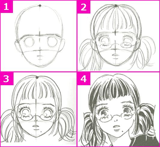 漫画イラストの描き方髪の毛を描いてみよう デジタルイラスト