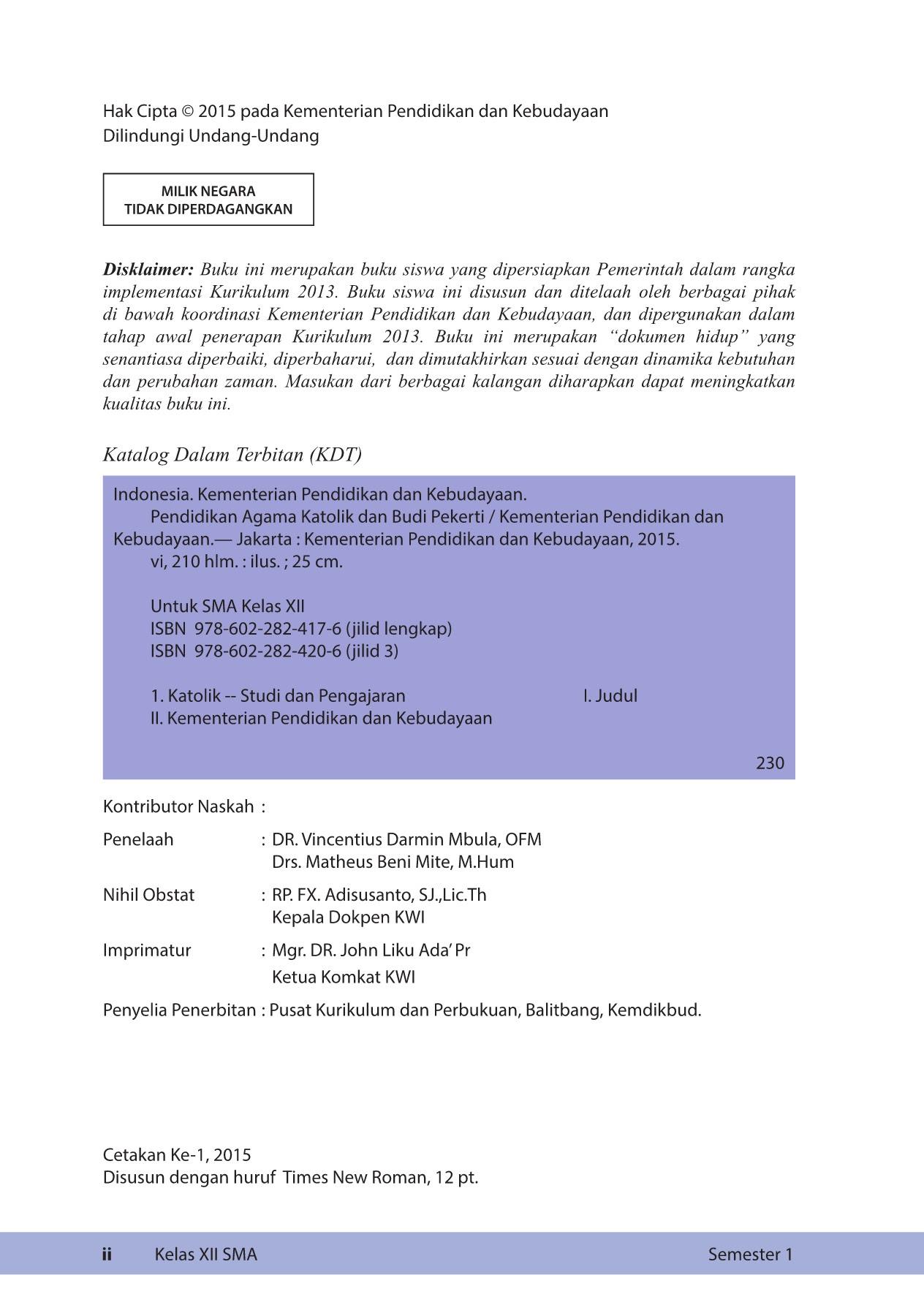 Kelas 12 SMA Pendidikan Agama Katolik dan Budi Pekerti Siswa Pages 151 200 Text Version
