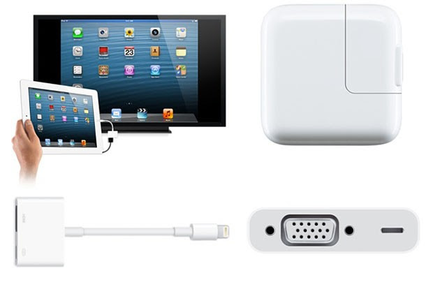 Apple Store now has Lightning to HDMI and VGA adapters at $49 a pop, soupedup iPad charger
