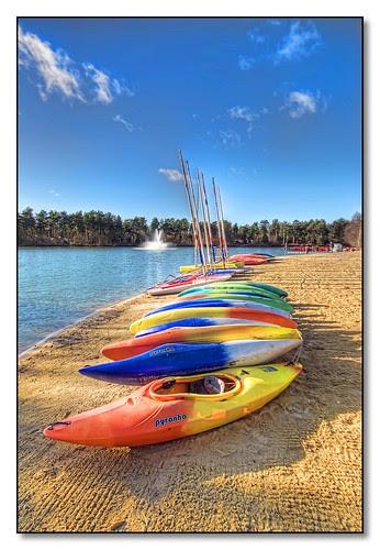 Canoes at Centreparcs