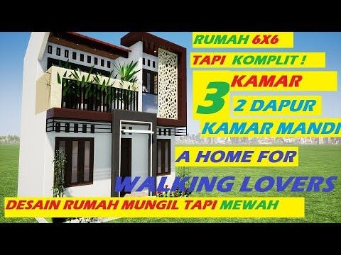 denah rumah minimalis 2 lantai 3 kamar tidur dan garasi