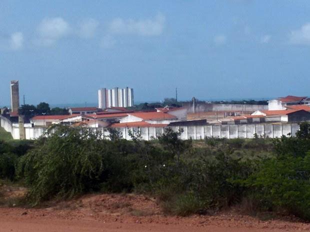 Presos se amotinam mais uma vez na penitenciária de Alcaçuz (Foto: Heloisa Guimarães/Inter TV Cabugi)
