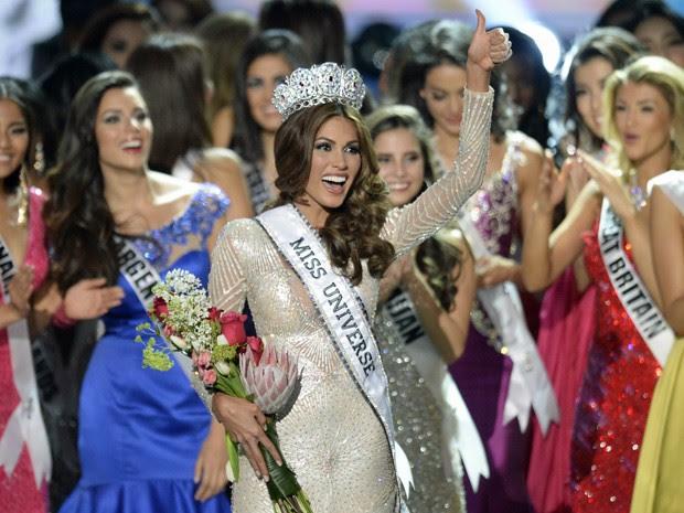 A Miss Venezuela Gabriela Isler é coroada Miss Universo 2013 (Foto: Alexander Nemenov/AFP)