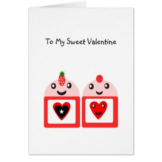 To My Sweet Valentine Greeting Card