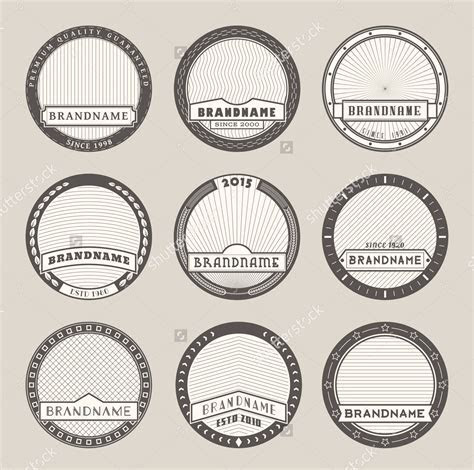14  Round Label Designs   Design Trends   Premium PSD