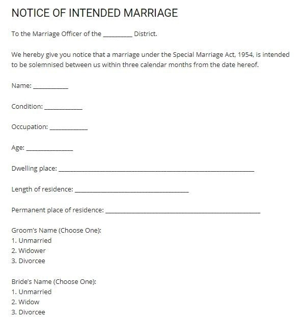 marriage witness letter sample  pdf template