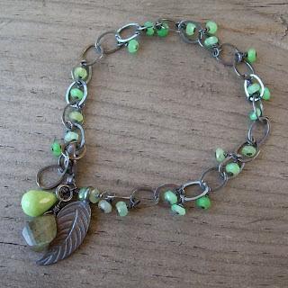 chrysoprase silver bracelet