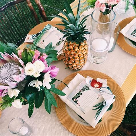 Tropical theme party   dinner   brunch   wedding
