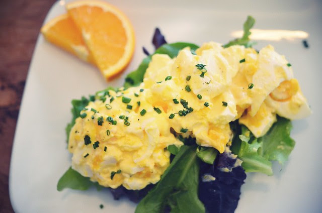 europane's egg salad sandwich