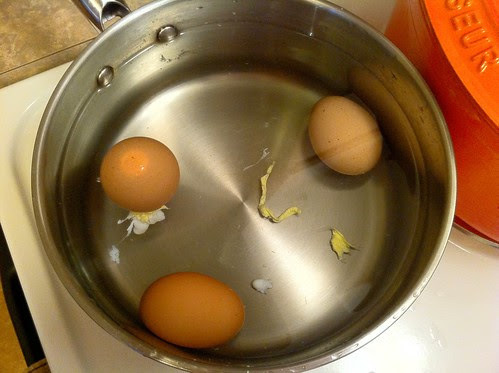 Let Eggs Cool in Cold Water