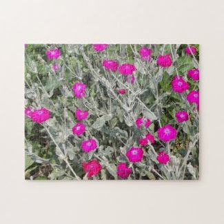 The Purple Pink Flowers Jigsaw Puzzles