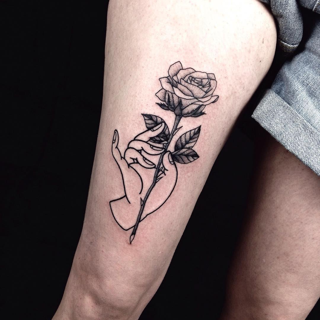 Rose Tattoo On Thigh Best Tattoo Ideas Gallery
