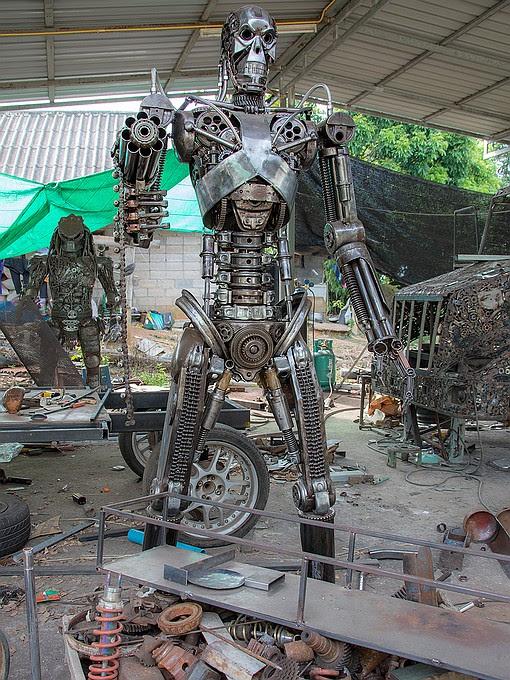 Scrap Metal Art Thailand Chochaengsao Province Attractions