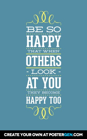Be So Happy Print Quote Posters Posters Postergencom