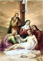 13ª ESTACIÓN: JESÚS EN BRAZOS DE SU MADRE