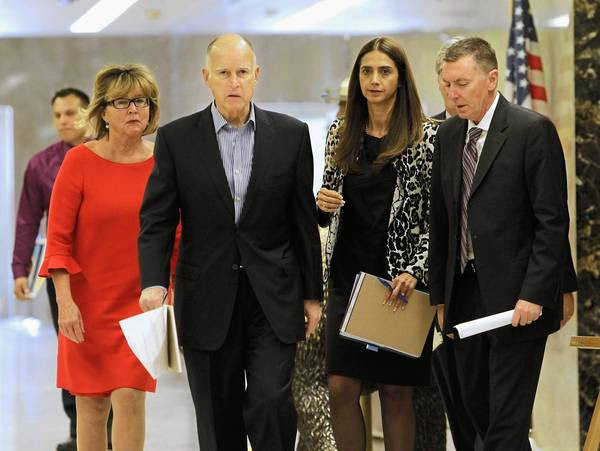 Gov. Jerry Brown and school officials