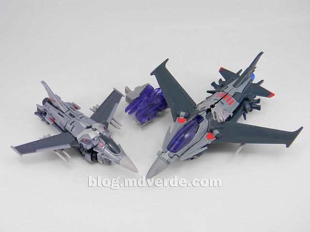 Transformers Starscream Voyager - Prime RID - modo alterno vs First Edition Deluxe