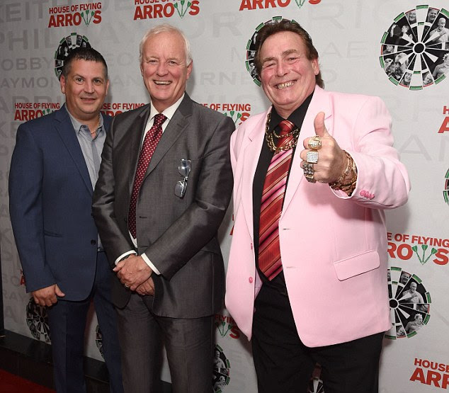 Happy days: Also present at the screening were darts legend Gary Anderson, promoter Barry Hearn and presenter Bobby George
