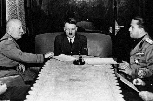 Mussolini, Hitler, and Ciano
