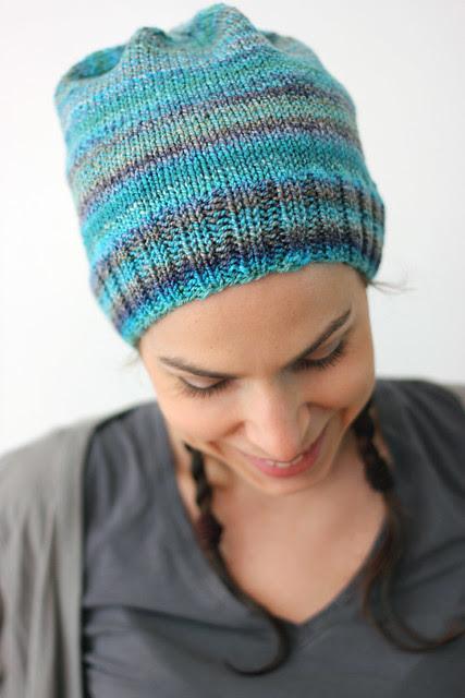 Kelp, handspun hat