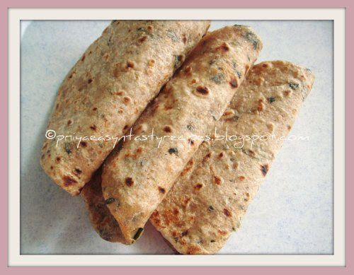 Drumstick leaves Paratha