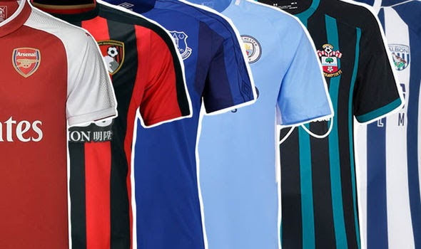 Epl table uk premier league kits 2017 18 every new home away and third strip confirmed so far - Premier league table home away ...