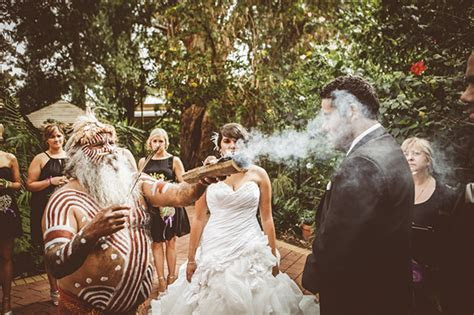 Smoking ceremony performed at cultural wedding of Candice