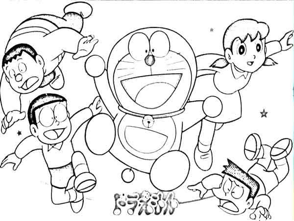 860 Koleksi Sketsa Gambar Kartun Doraemon Terbaru Gambar