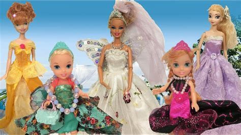 Anna and Elsa Toddlers Barbie's Wedding Shopping! Gowns