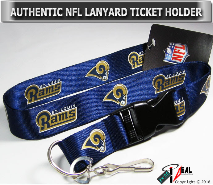 NFL ST.LOUIS RAMS OFFICIAL LANYARD KEY CHAIN HOLDER  eBay