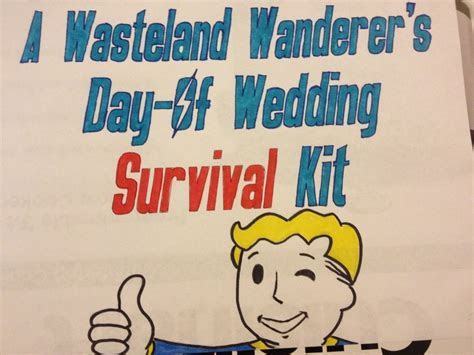 Make this Fallout themed wedding day survival kit for your