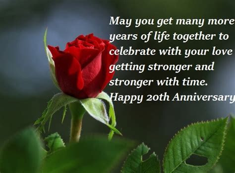 Happy 20th Wedding Anniversary Wishes Quotes   Best Wishes