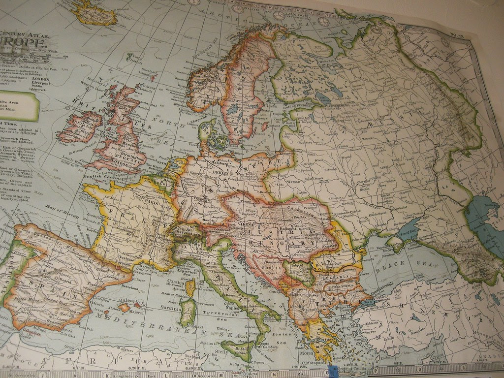 the century atlas of europe 1897 by co. new york