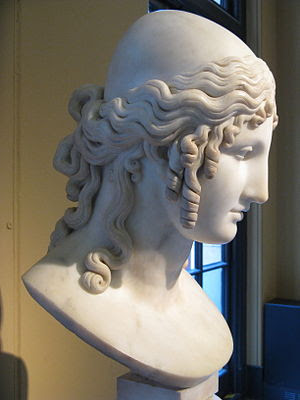 Bust of Helen of Troy by Antonio Canova at Vic...