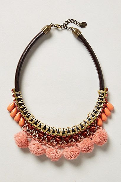 Skoria Pompom Necklace - anthropologie.com