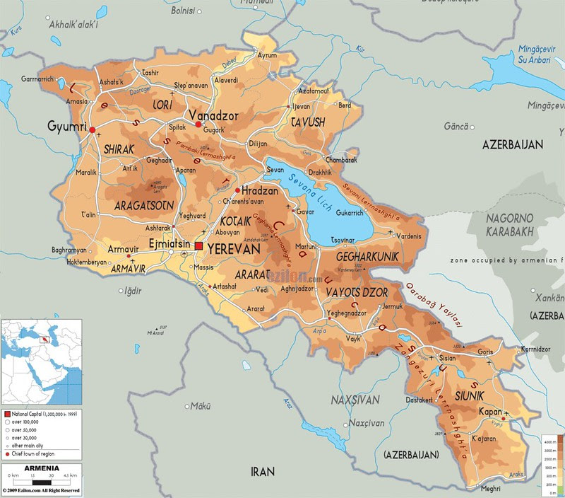 Maps of Armenia | Jo