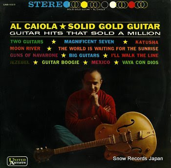 CAIOLA, AL solid gold guitar