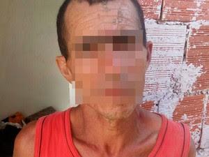 Homem suspeito de matar a mulher e enterrar o corpo foi preso na Bahia (Foto: Divulgação/Polícia Militar)