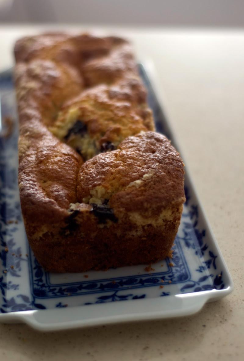Bolo de limão e mirtilos // Blueberry Lemon Cake