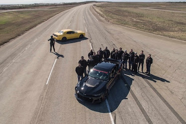 [Video] 1,000-horsepower Hennessy Exorcist Chevy Camaro ZL1 races to 349 km/hr