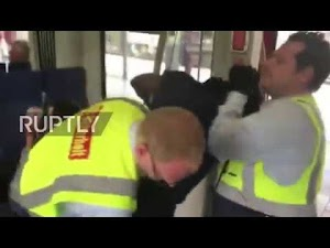 Stubborn Nigerian Man Was Brutally hauled Out Of A Train By Inspectors in Germany..(Watch Video)